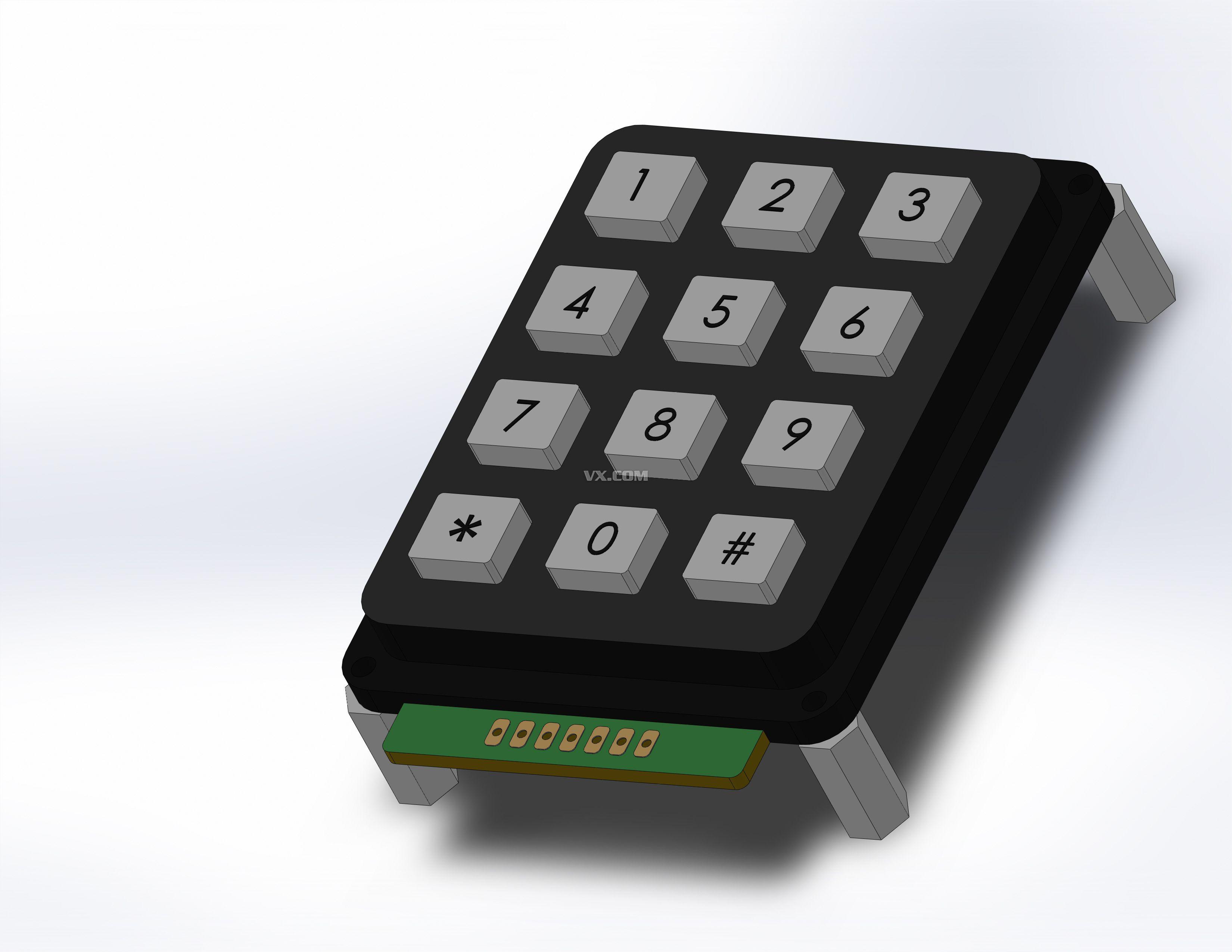 数字键盘_solidworks_数码电子