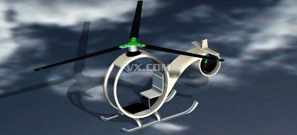 玩具直升机_pro/e_玩具礼品_3d模型_图纸下载_微小网