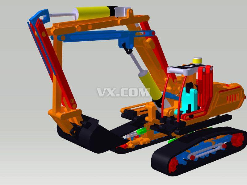 挖掘机_catia_机械设备_3d模型_图纸下载_微小网