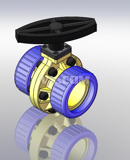 排水阀_solidworks_机械设备