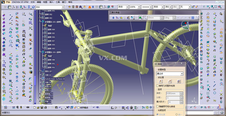 catia设计 自行车_catia_交通工具_3d模型_图纸下载