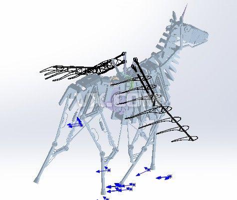 飞奔的马的简笔画内容图片展示