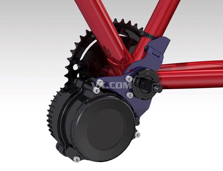 电动自行车马达固定结构