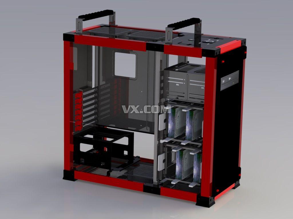 DIY机箱_SolidWorks_数码电子_3D模型_图纸下载_微小网
