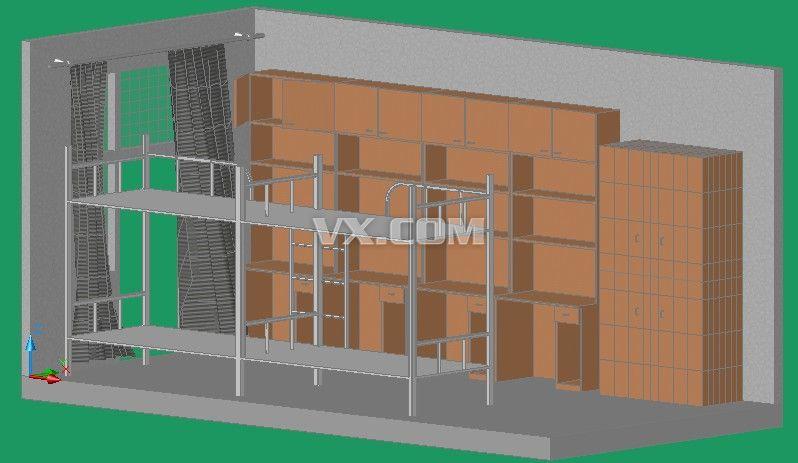 4人间宿舍布局尺寸 平面设计图展示