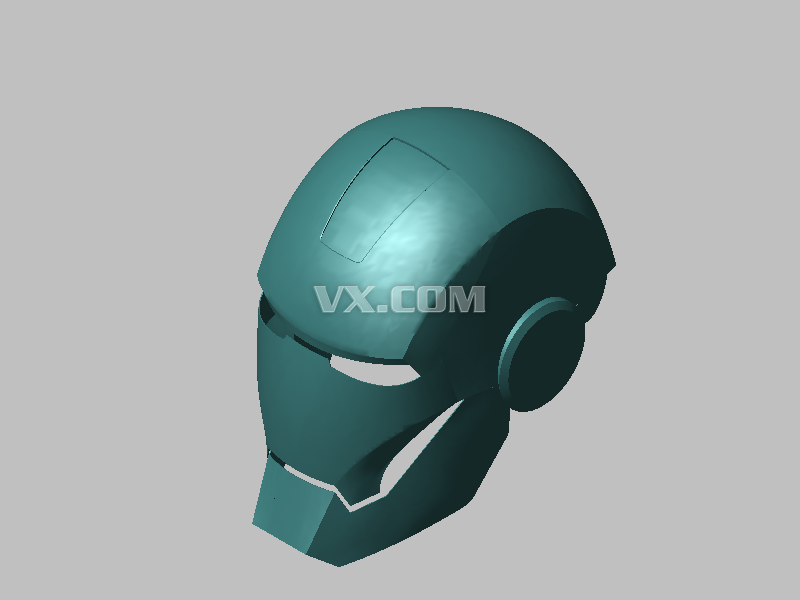 鋼鐵俠頭盔紙模圖紙展示_設計圖分享
