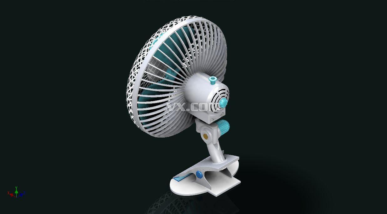 电风扇_inventor_家用电器