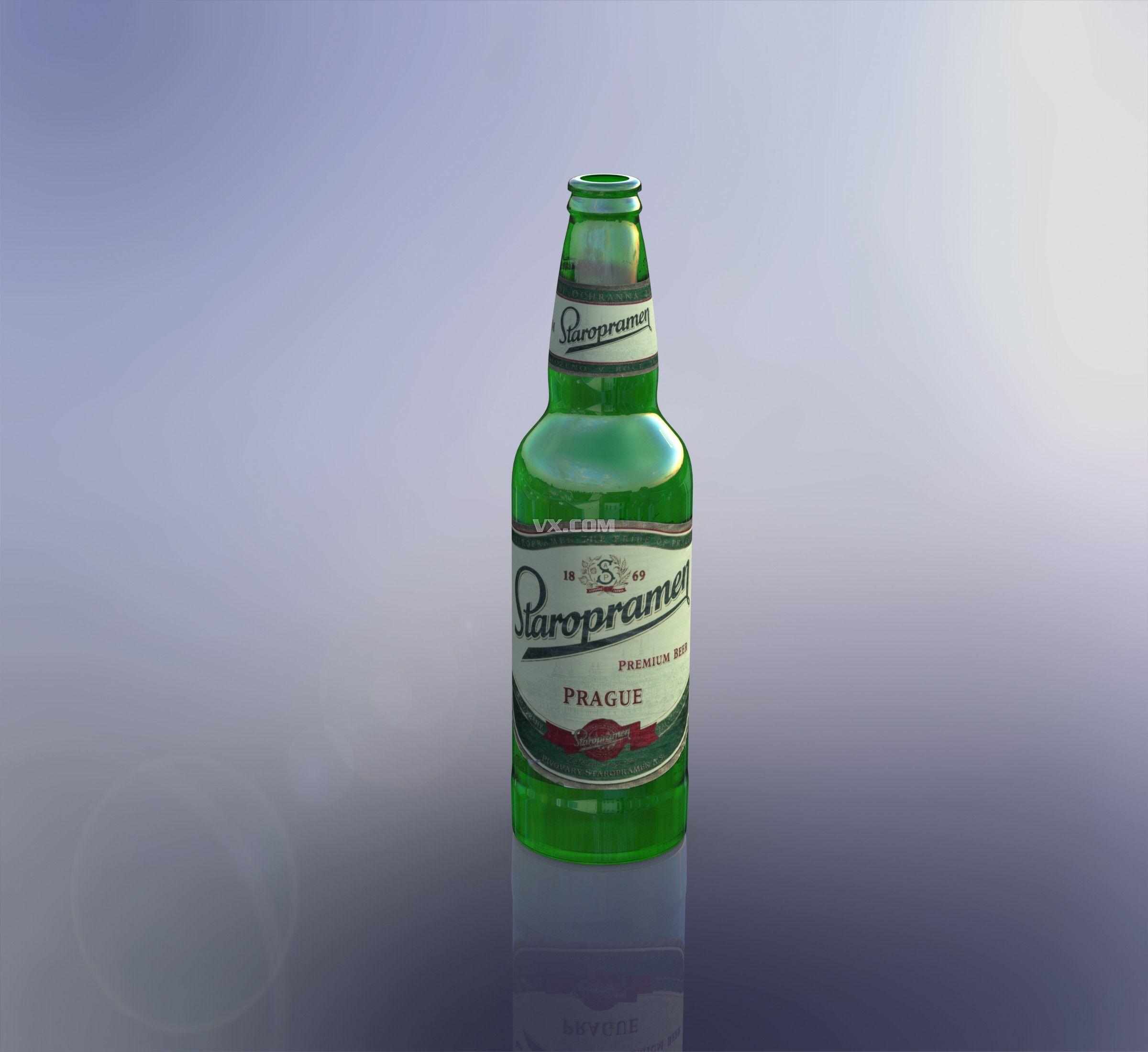 啤酒瓶_solidworks_包装