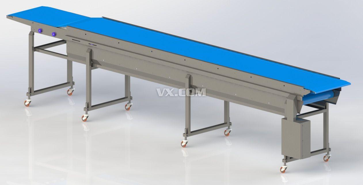 伸缩传送带_solidworks_机械设备_3d模型_图纸下载