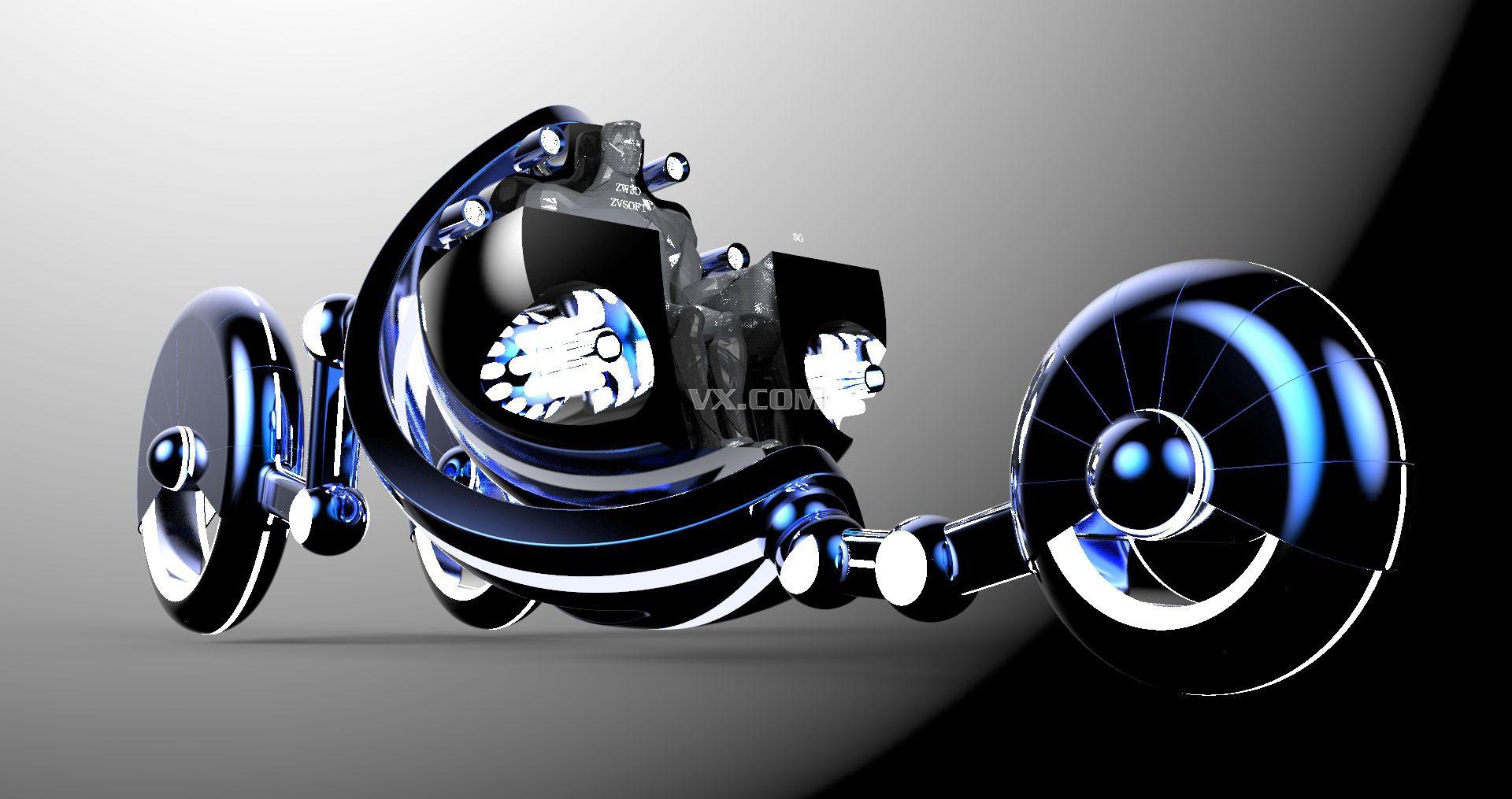中望3d2013全球设计比赛作品展#超级英雄战车