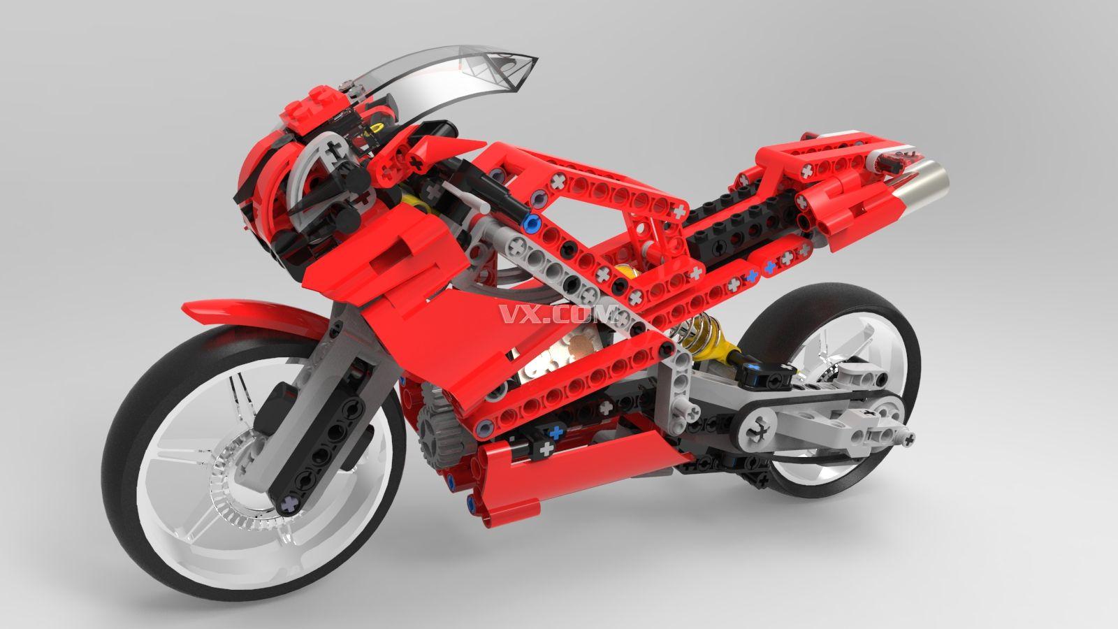 乐高摩托车玩具