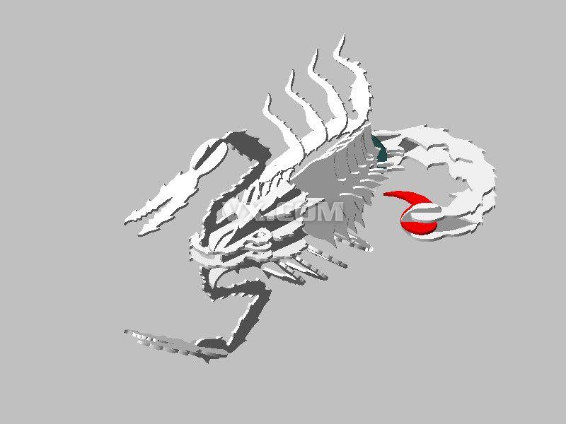 蝎金属片拼图_step/stp_创意设计_3d模型_图纸下载