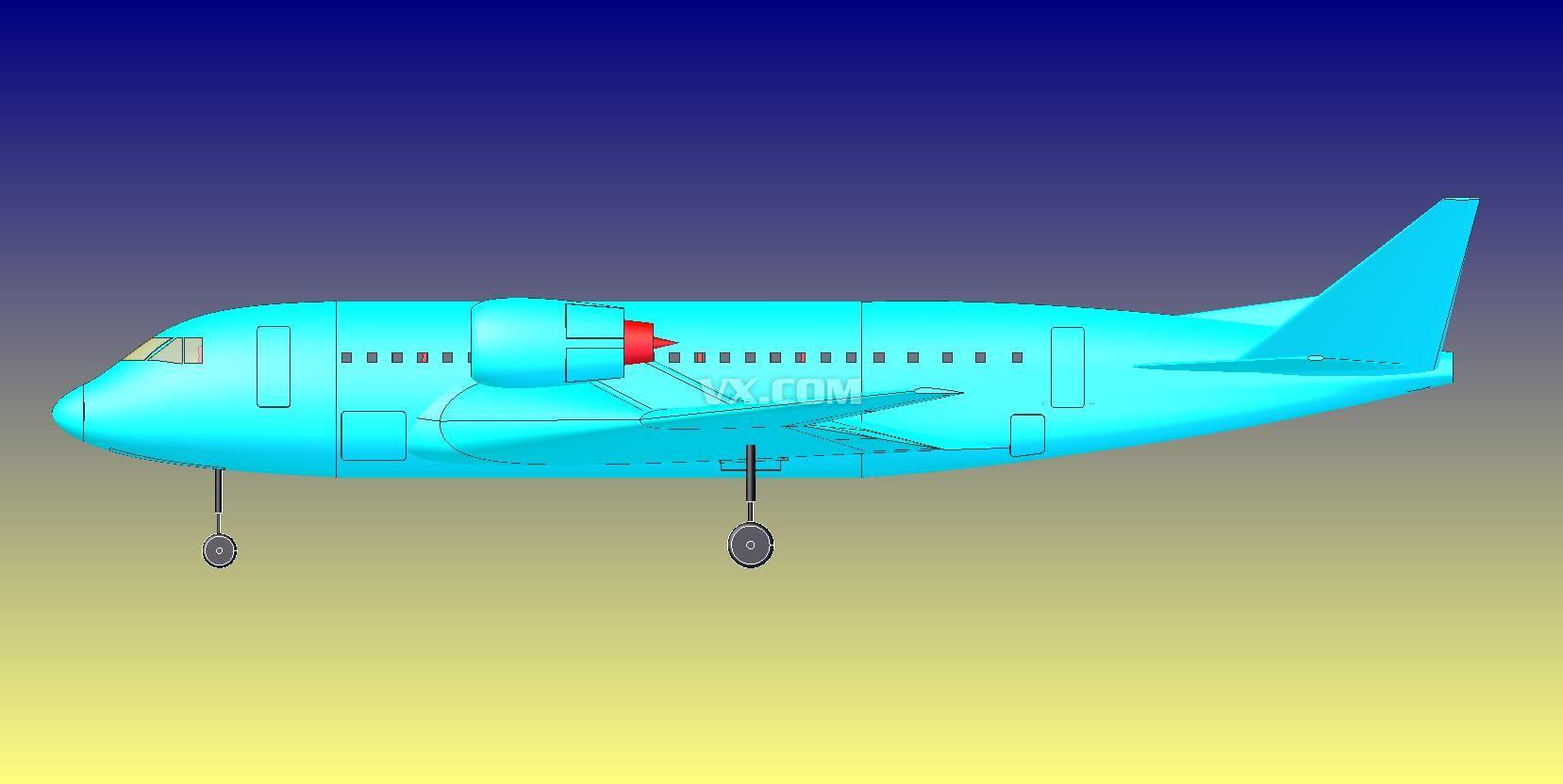美国航天飞机_step/stp_航天航空_3d模型_图纸下载