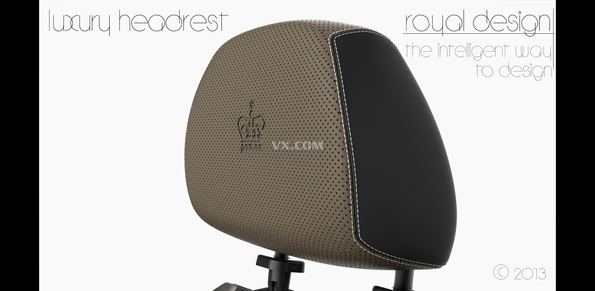 汽車座椅頭枕設計圖展示