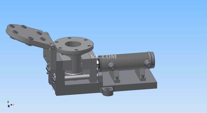 填料箱盖钻孔夹具设计机械工工艺夹具课程设计proe图