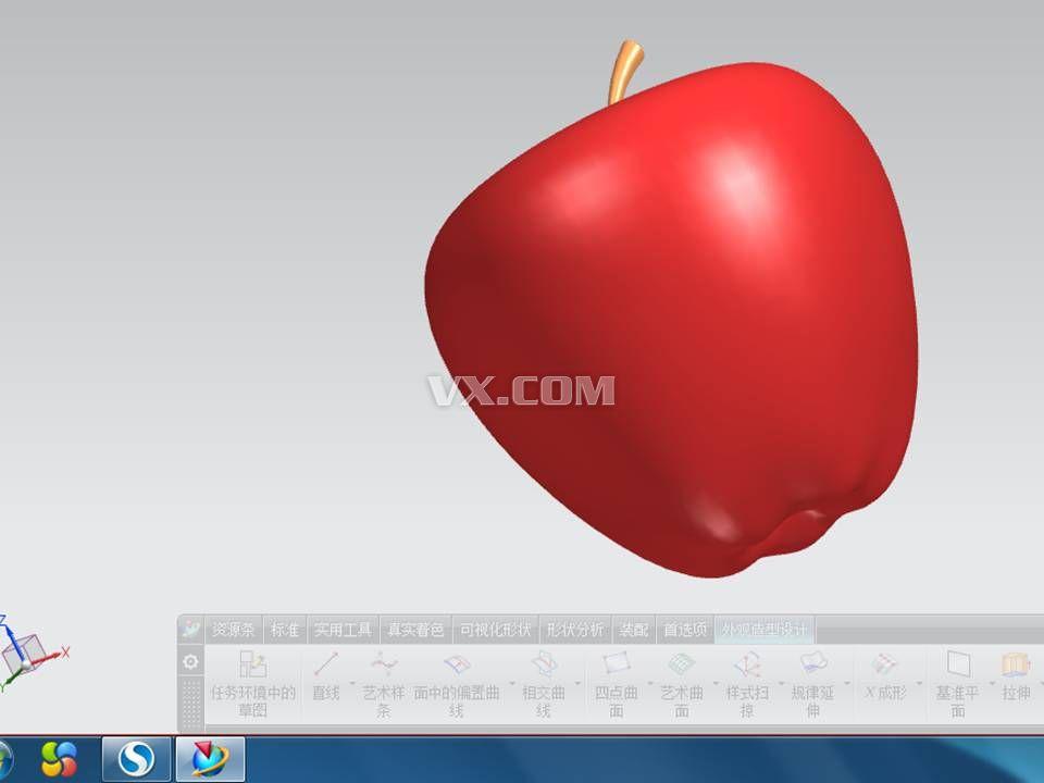 苹果造型_nx_创意设计_3d模型_图纸下载_微小网