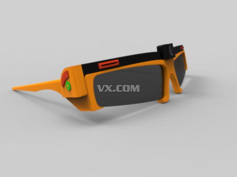 智能眼鏡_step/stp_創意設計_3d模型_圖紙下載_微小網