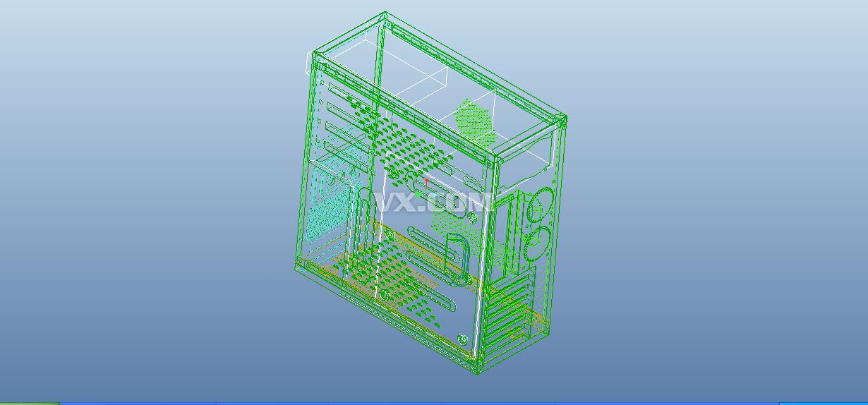 电脑机箱_Pro/E_数码电子_3D模型_图纸下载_微小网