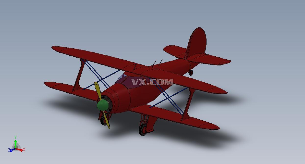 滑翔机(glider)是一种没有动力装置,重于空气的固定翼航空器。它可以由飞机拖曳起飞,也可用绞盘车或汽车牵引起飞,更初级的还可从高处的斜坡上下滑到空中。在无风情况下,滑翔机在下滑飞行中依靠自身重力的分量获得前进动力,这种损失高度的无动力下滑飞行称滑翔。在上升气流中,滑翔机可像老鹰展翅那样平飞或升高,通常称为翱翔。滑翔和翱翔是滑翔机的基本飞行方式。 一款滑翔机的3D模型,有SLDPRT格式的图纸,分享一下