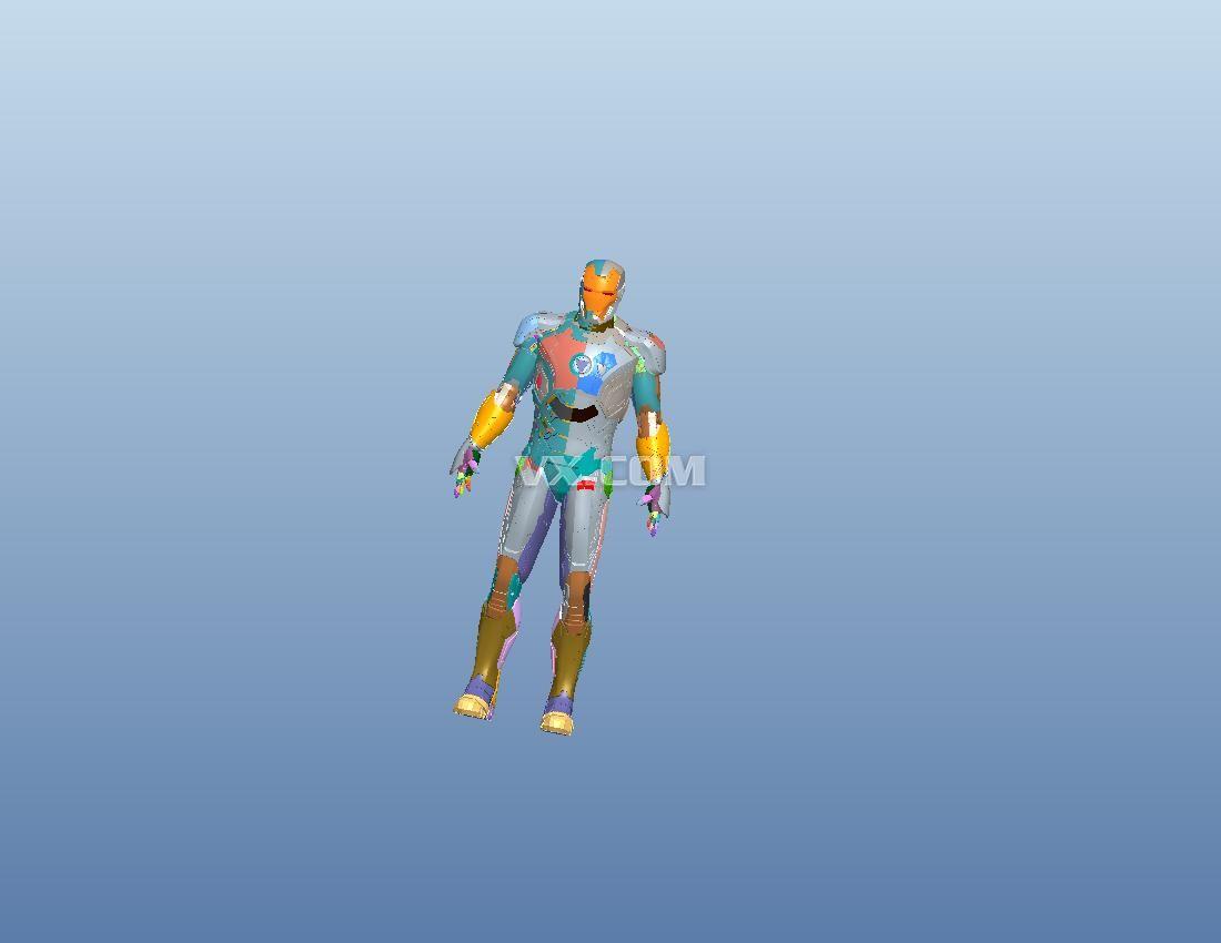 原创设计   钢铁侠图纸   玩具礼品   pro/e   id   文件名高清图片