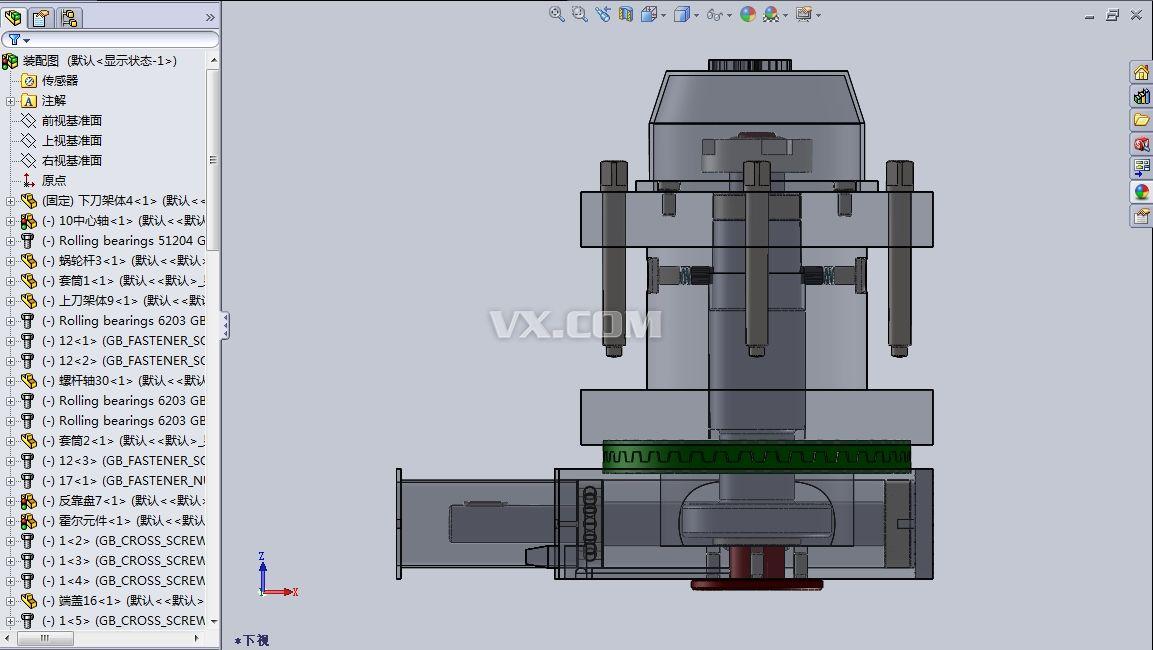 毕业设计:数控车床四工位自动回转刀架三维cad图