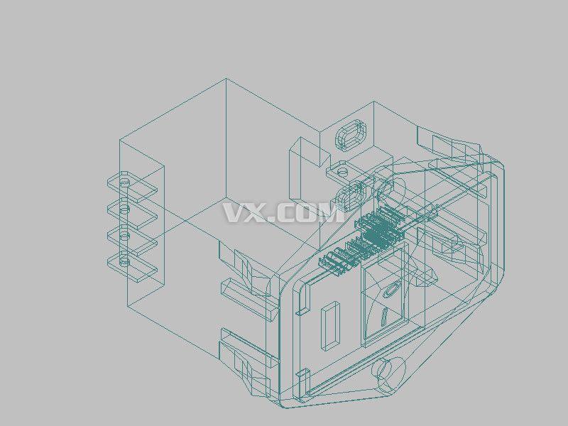 带开关的电源_solidworks_家用电器_3d模型_图纸下载