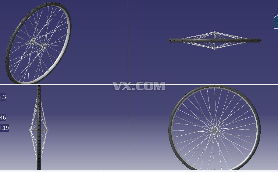 自行车车轮_catia_交通工具