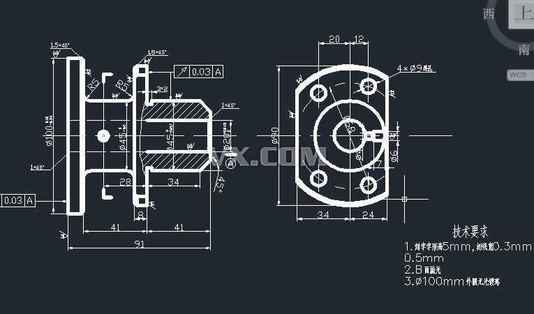 ca6140车床法兰盘(831004)课程设计(加工4-φ9孔夹具)