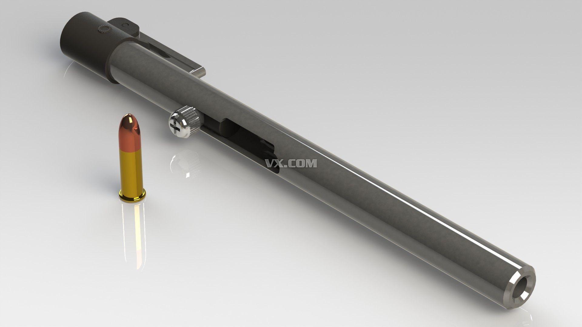 钢笔枪 Solidworks 军用器械图片
