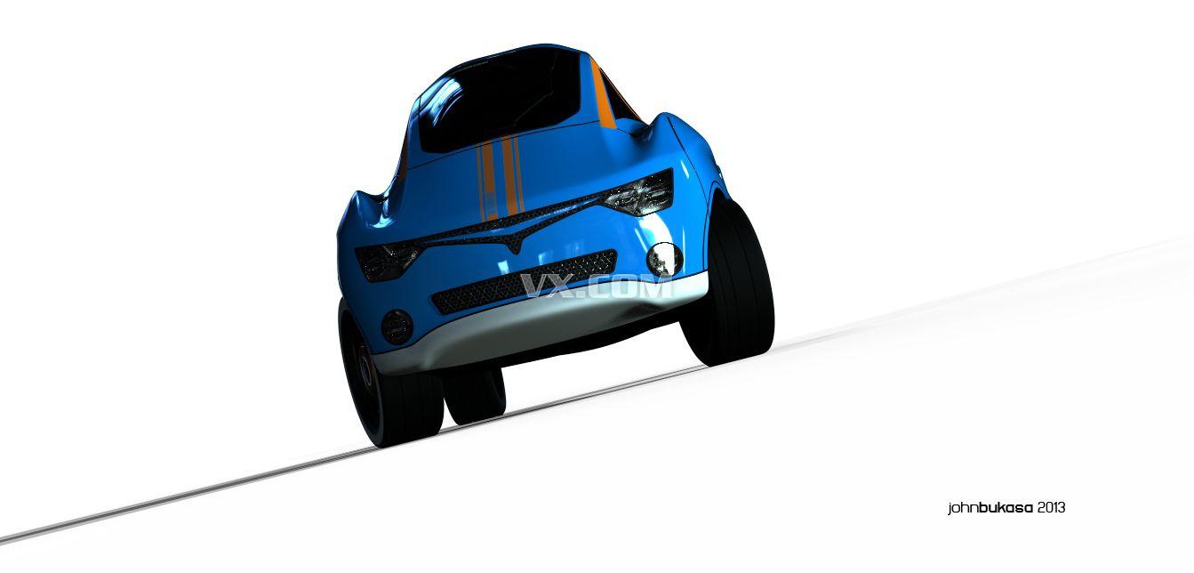 流线型汽车概念图