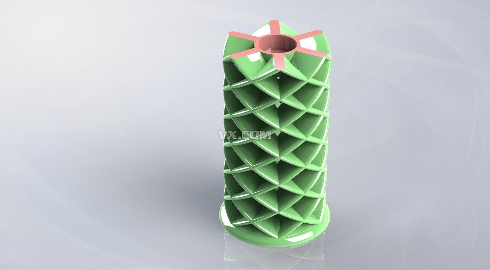 花型灯罩_solidworks_创意设计_3d模型_图纸下载_微小