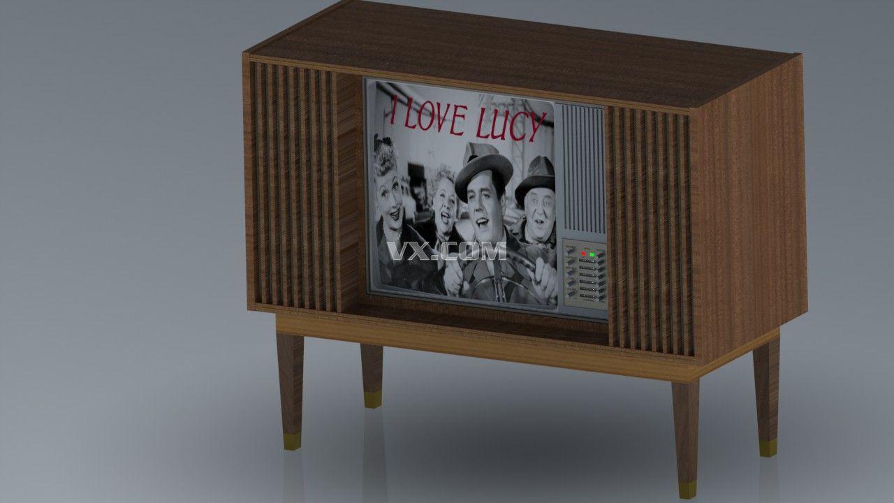 老式电视机_solidworks