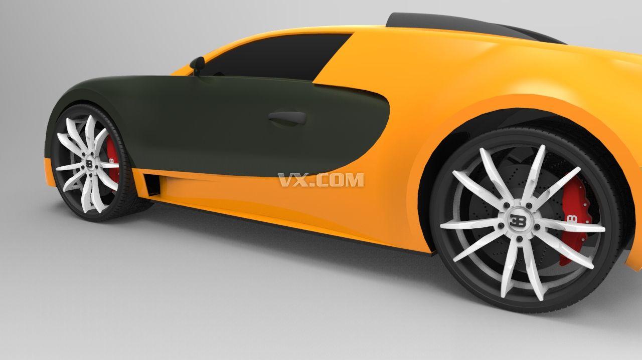 布加迪威航跑车_solidworks_交通工具_3d模型_图纸