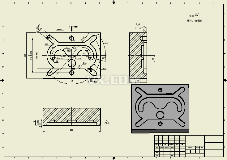 3d建模练习图纸_inventor