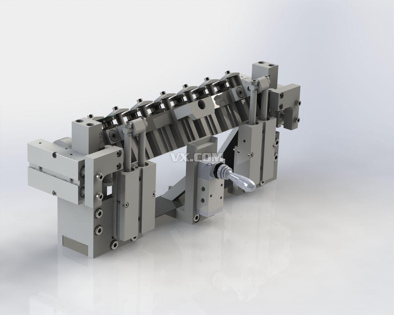 加工中心转角度夹具_solidworks_机械设备_3d模型