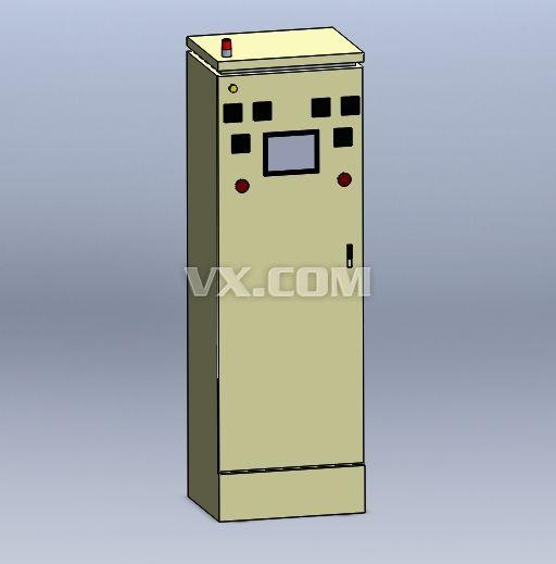 电控柜_solidworks_电气管路_3d模型_图纸下载_微小网