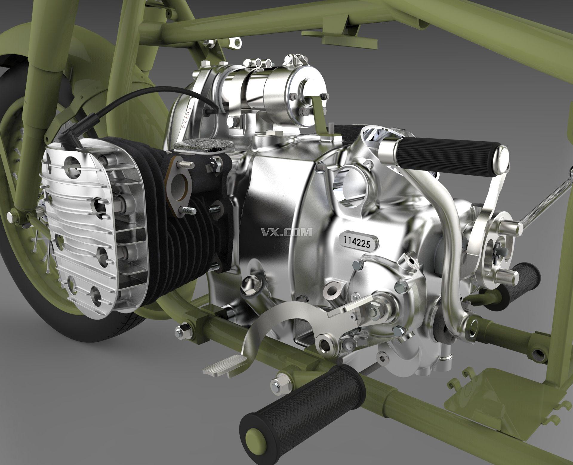 m72摩托车机头装配图