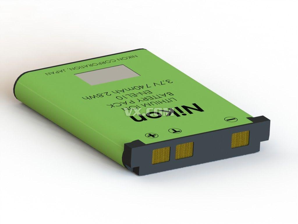 尼康锂电池_solidworks图片