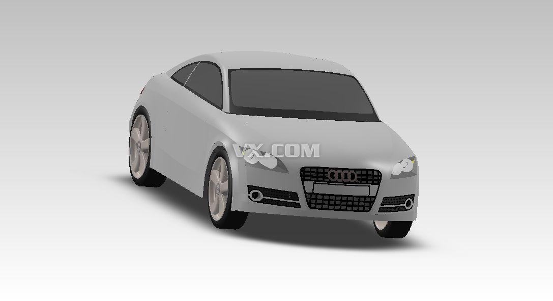 奥迪车_solidworks_交通工具_3d模型_图纸下载_微小网
