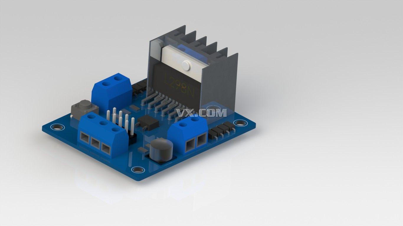 电机驱动器电路板_iges/igs_电气管路_3d模型_图纸