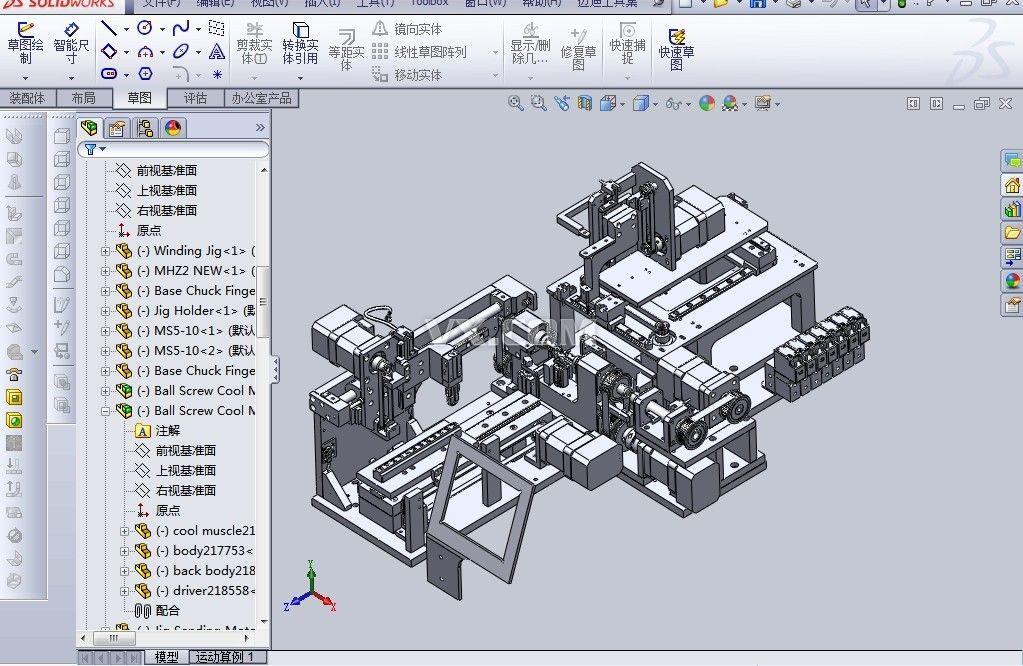 非標機械傳動裝置_SolidWorks_機械設備_3D模型_圖紙下載 ...