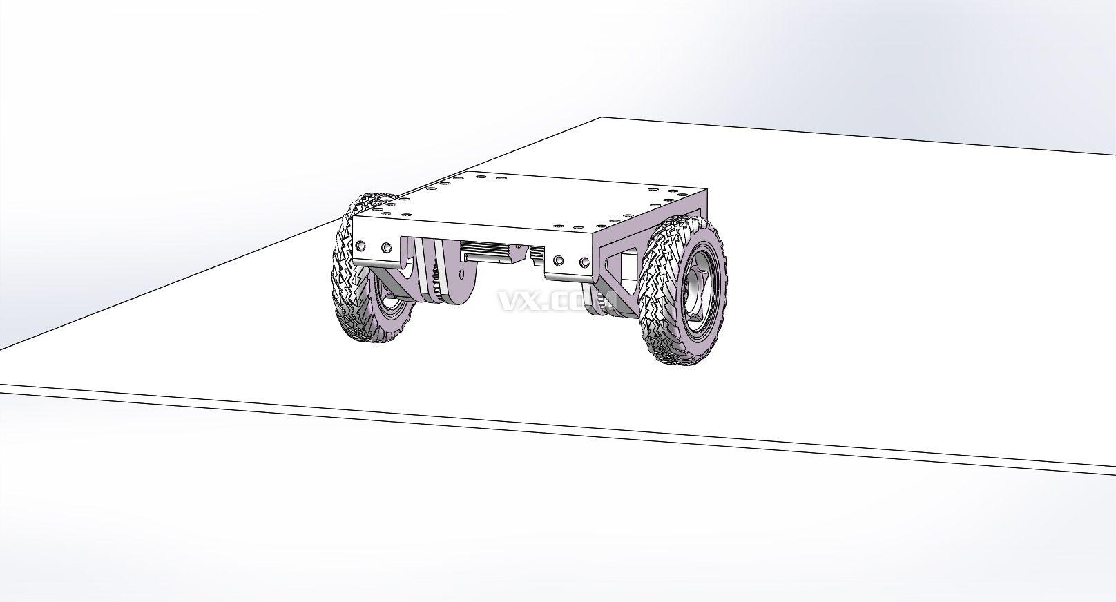 两轮自平衡小车silidworks设计