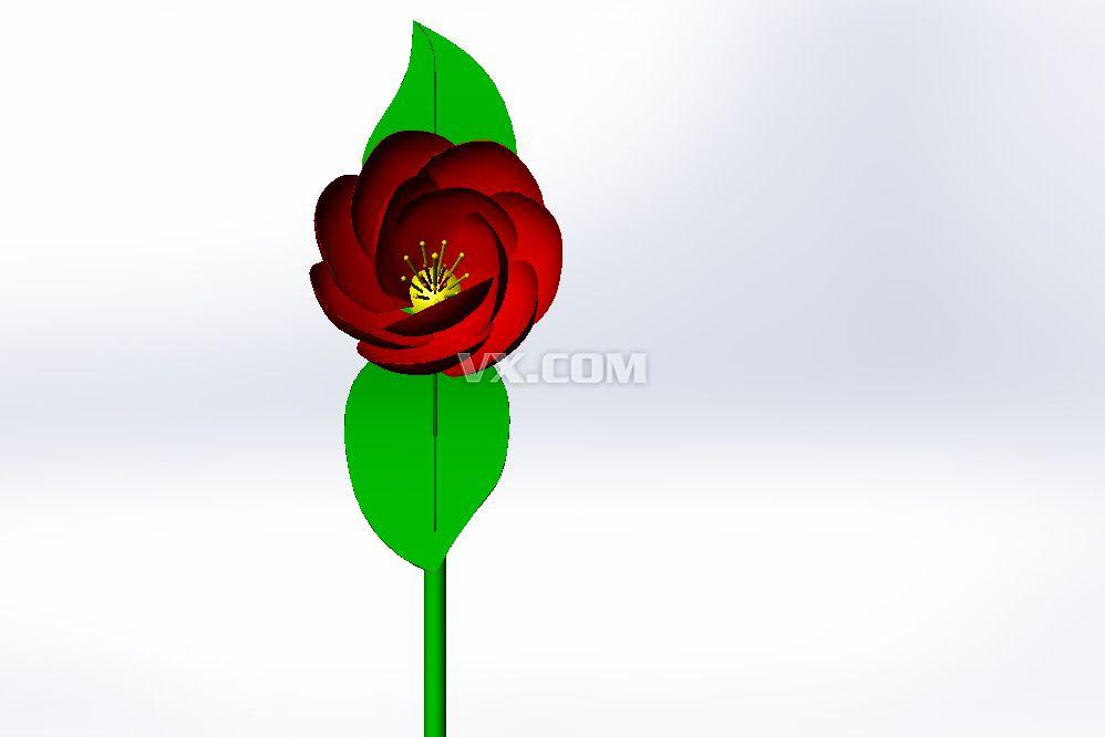 绿叶红花_solidworks_模具