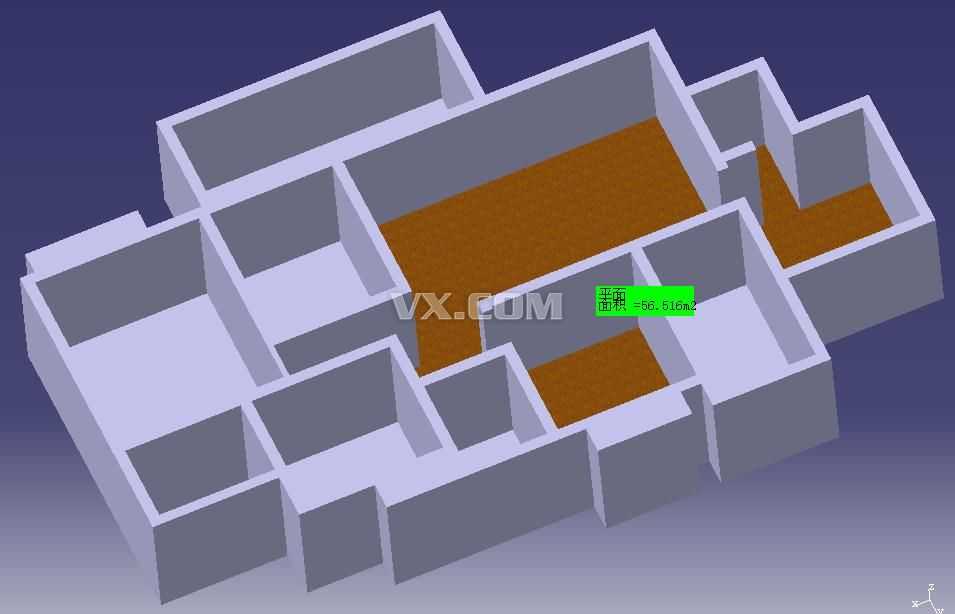 catia设计的房屋结构图