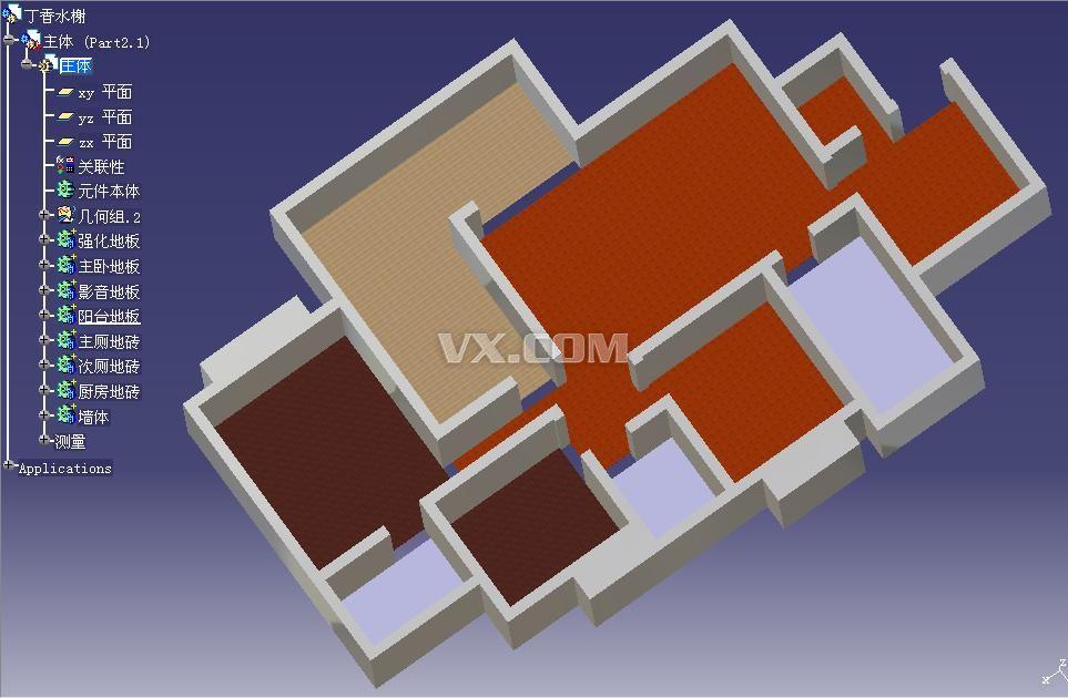 catia设计的房屋结构图_catia_家具_3d模型_图纸下载