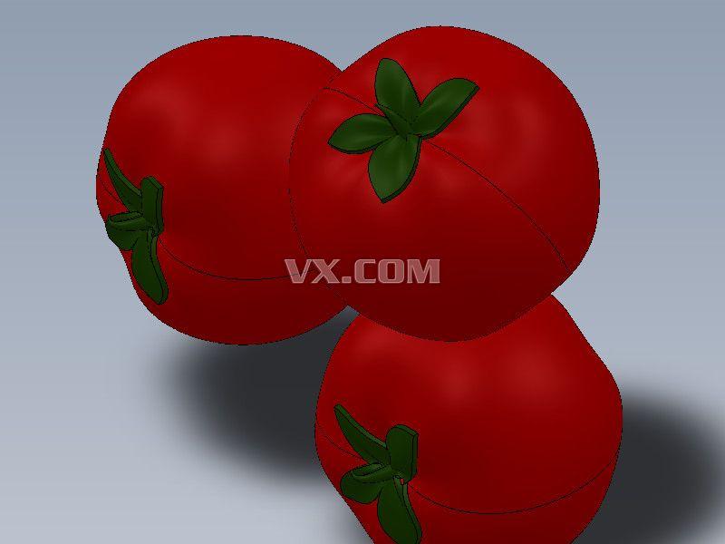 西红柿_solidworks_创意设计_3d模型_图纸下载_微小网