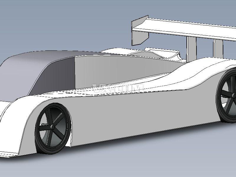 勒芒赛车_solidworks_交通工具_3d模型_图纸下载_微小
