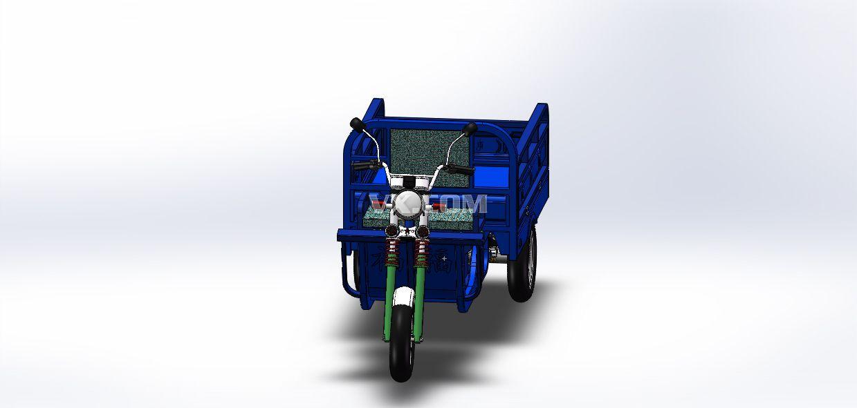 家用电动三轮车三维模型