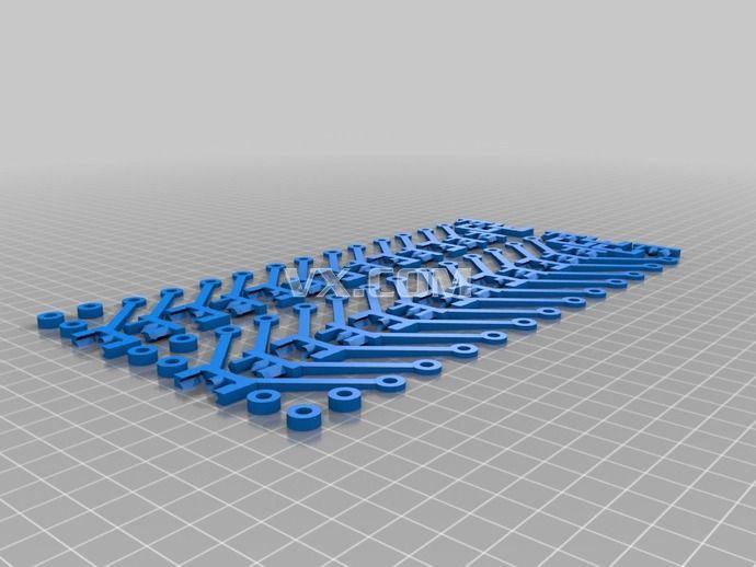 蜂窝状结构3d打印_stl_创意设计_3d模型_图纸下载