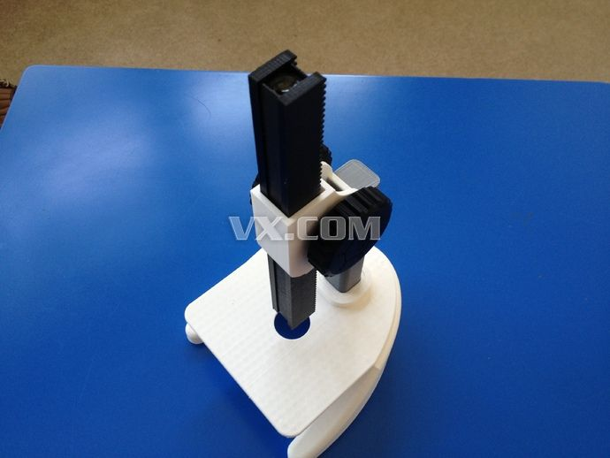 显微镜3d打印_stl_创意设计_3d模型_图纸下载_微小网